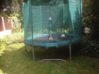 Large trampoline with sides