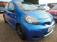 2010 60 TOYOTA AYGO 1.0 BLUE VVT-I 5DR 70 BHP LOW INSURANCE BAND FINANCE WITH NO