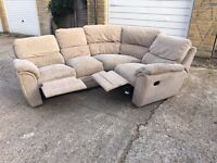 Recliner L shape sofa, Free delivery