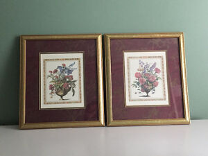 MOVING SALE- Framed and Matted Print Set