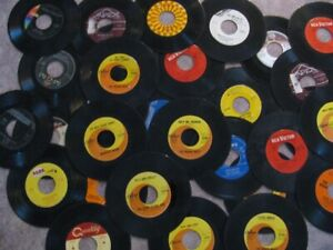 Thirty 45 RPM Records - Mid 60's