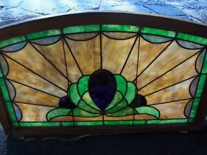 Antique stained glass window, curved top Kingston Kingston Area image 2