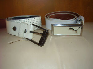 Puma and Lowlife Of London White Leather Belt Mens New