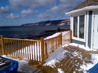 Vacation rental Bay of Fundy shoreline