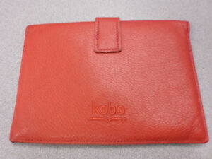 ROOTS RED LEATHER CASE FOR KOBO GLO, GLO HD & TOUCH 2.0