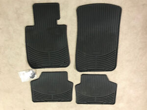 2006-2011 Genuine BMW 3 Series OEM all weather black rubber mats