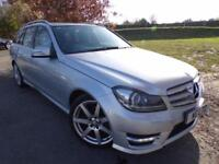 2012 Mercedes Benz C Class C220 CDI BlueEFFICIENCY Sport 5dr Sat Nav! Parking...