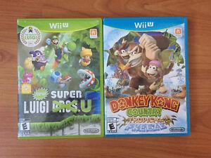 Jeux de Wii U - 20$ chacun