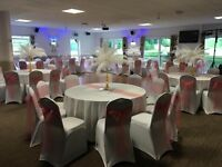 Venue Dressing for all Occasions..50p chair cover hire