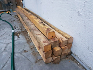 4x4 8 foot rough cut posts