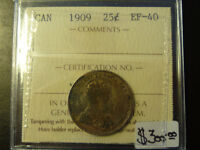 Monnaie 25¢ 1909 EF-40 Iccs Laval / North Shore Greater Montréal Preview