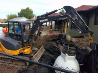 Mini excavator, Skid steer, Dump Trailer for hire