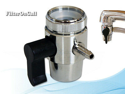 "لاعمال السباكة جديد Lead Free Faucet Adapter Diverter Valve RO Water Filter System for 1/4"" tubing"