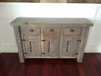 Custom rustic cabinets, tables, benches, barn doors hardware