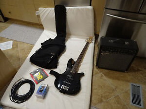Bass Guitar and Amp with extras