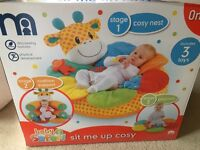 Mothercare sit me up and white feeding/sleeping pillow