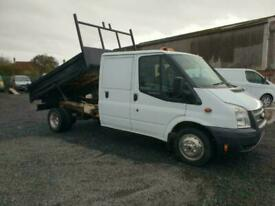 2013 13 PLATE FORD TRANSIT T350 LWB CREW CAB TIPPER PICK UP VAN (NO VAT)