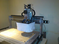 4 Axis 40x48 CNC Router/Milling Machine w/ CAD/CAM SW -Turn-key