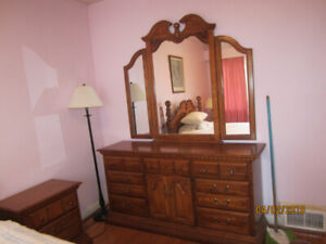 Queen Bedroom Set – Solid Wood – Moving Sale - Price Reduced