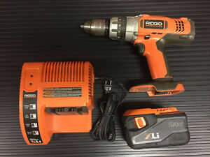 Ridgid 24 Volt Hammer Drill with Battery and Charger
