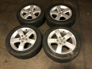 JDM HONDA 2006+ MAGS WITH WINTER TIRES FOR SALE 205/55R16 16INCH