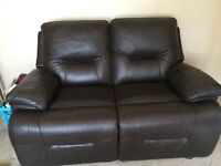 Brown soft leather sofa electric full recliner OFFERS