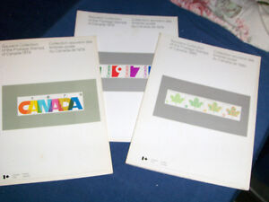 3 CANADA POST SOUVENIR COLLECTION STAMP BOOKS-1978-79-80