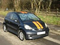 TOYOTA AYGO 1.0 VVT-i SPORT 3 DOOR HATCH IN DARK GREY WITH ORANGE STRIPES