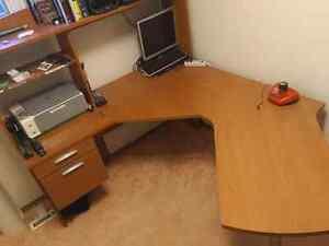 """Large """"L"""" Shaped Computer Desk"""