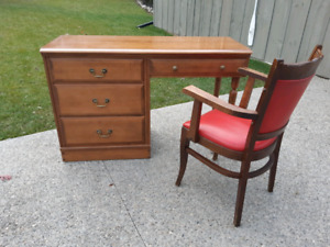 Solid Wood Desk and Chair *Delivery Available*