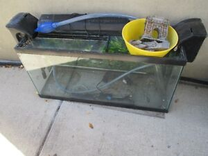 30 Gallon Fish tank with two like new pumps & accessories