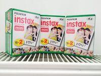 Fujifilm Instax Mini Polaroid Film - £15 per pack/£45 for all 3