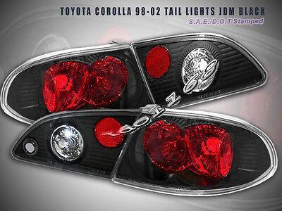 98-02 Toyota Corolla Tail Lights JDM Black 99 00 01  G2 02 Toyota Corolla Tail Light