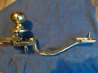 Brass inside door - lock with handle