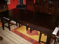 Hand Hewn Indonesian Teak Table and Chairs