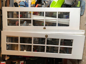 White French doors with frame