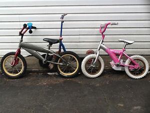 2 vélos pour enfants