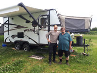 Survivorman Approved Camping Rental Trailers close to Emily Park