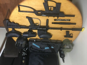 Paintball gun bundle- bt4, jt stealth and accessories