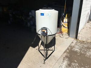 55 Gallon Inductor Tank Mixing Station with Split Phase Motor