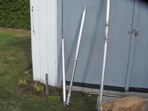 H/DUTY ALUM. POLES & GALV. PEGS FOR LARGE TENTS.