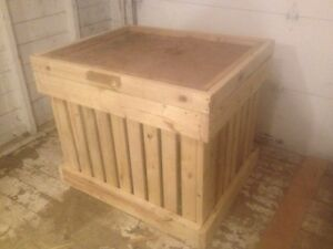 Garbage/outdoor storage bins (built to ordered size)