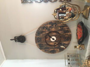 Beautiful wood hand crafted clock