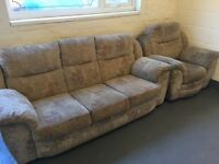 3 seater plus electrics chair
