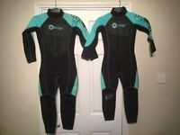 Pair of Wet Suit Long Sleeve, Long Leg for approx 10yr and 8yr olds