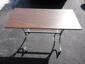 Wooden console table sofa table metal base
