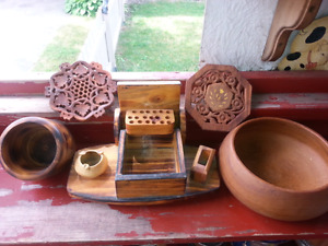 VINTAGE WOODEN GOODIES $5.00 FOR ALL
