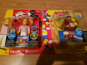 Simpsons Figures Troy McClure and Bleeding Gums Murphy
