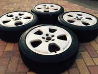 """Genuine 17"""" Audi A3 A4 A6 SLine Alloy wheels & Tyres Caddy T4 Transporter"""