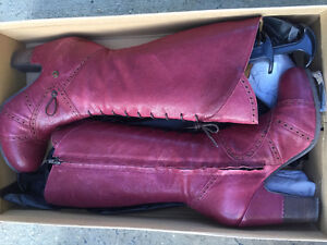 Ladies Gold Button boots